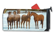 Winter Horse MailWrap Mailbox Cover 00153