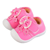 Janly® Cute Girls Autumn Winter Shoes Floral Sneaker Newborn Infant Bownot Warm Flock Walkers for 0-18 Months Baby