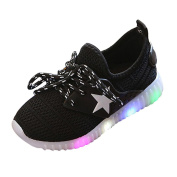 Toddler Baby Fashion Sneakers Star Luminous Child Casual Colourful Light Shoes