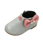 Covermason Chic Baby Girls Ankle Boots, Bowknot PU Leather Shoes Sneaker