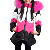 For 4-8 Years Old Kids Jackets, Voberry Girls Kid Winter Outwear Medium Coat Jacket Warm Wool Hooded Overcoat Outfits Warm Clothes Outwears Overcoats