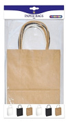Playbox - Paper Bags, Natural, Black & White 245 x 190 mm 6 Pcs, Multi
