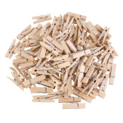 CHIC*MALL Craft Wood Clip Natural Wooden Clothespins for Photos Crafts and Home Decoration