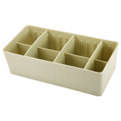 LanLan Plastic Receive a storage box with Removable Dividers Underwear Socks Accessories Double Row Green