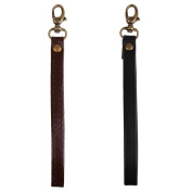 Sharplace 2pc New Replacement Faux Leather Wrist Strap For Clutch/Wristlet/Purse/Pouch