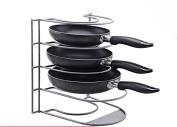 DYF Storage Pot Rack Placing Kitchen Multifunctional Multilayer,29*28*23CM