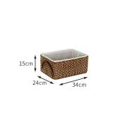 DYF Storage Baskets Grass Rattan Desktop Debris Clean Structured,Big/Small,C,34*24*15cm