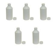 250 Millilitre Ml Plastic Bottle White Cylindrical with Lid for Liquid Water Juice Oil Dressing Sauce Beauty Cosmetics