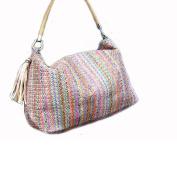 MOXIN Straw bag - tote bag, faux leather handles Shopping Baske