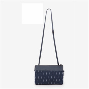 GUJJ Fresh female messenger single shoulder carry small mobile phone package hand two packages, dark blue leaves