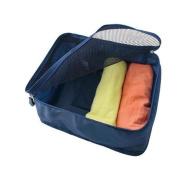 GUJJ Travel Bag stained clothing magazine Underwear bra 40*30*13cm, pocket, dark blue