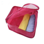 GUJJ Travel Bag stained clothing magazine Underwear bra pockets of red 40*30*13cm,