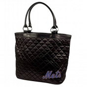 MLB New York Mets Retro Quilted Tote, Black