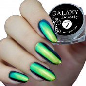 Chameleon Mirror Chrome Nail Shifting Powder Multi Colour Changing Glitter Blue Green Gold Effect
