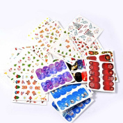 Lovely House 3D Flower Nail Art Stickers Decals Self-adhesive Nail Tips Decorations