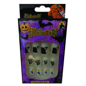 12 Halloween Themed Fake Nails with Glue