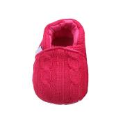 Lenfesh Sole Anti-slip Winter Warm Knitted Infant Prewalker Toddler Snow Crib Shoes