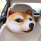 q HuanLeBao 3D Dog/Cat Car Headrest Neck Pillow Car Seat Cushion Car Neck Pillow Four Seasons Cartoon Interior Accessories , Q