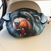 q HuanLeBao 3D Dog/Cat Car Headrest Neck Pillow Car Seat Cushion Car Neck Pillow Four Seasons Cartoon Interior Accessories , J