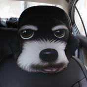 q HuanLeBao 3D Dog/Cat Car Headrest Neck Pillow Car Seat Cushion Car Neck Pillow Four Seasons Cartoon Interior Accessories , E