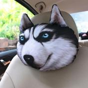 q HuanLeBao 3D Dog/Cat Car Headrest Neck Pillow Car Seat Cushion Car Neck Pillow Four Seasons Cartoon Interior Accessories , B