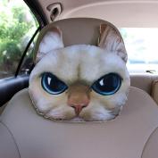 q HuanLeBao 3D Dog/Cat Car Headrest Neck Pillow Car Seat Cushion Car Neck Pillow Four Seasons Cartoon Interior Accessories , P