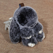 q HuanLeBaoBunny Pendant Car Supplies Decorations Loaded Rabbit Pendant , Black