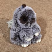 q HuanLeBaoBunny Pendant Car Supplies Decorations Loaded Rabbit Pendant , Grey