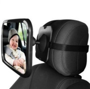MWYJR Baby Car Mirror 360 Degree Adjustability Clear Safe Large Simple Back Seat Rear View Fixing Straps View mirror