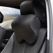 Car Neck Pillow Memory Foam Breathe Head Support Backrest Auto Seat Headrest Cushion Pillow Black