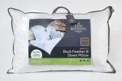 Fine Bedding Company Natural Medium Support Duck Feather & Down Pillow, Standard - 74 x 48cm