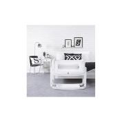 SnuzPod2 3in1 Co Sleeping Bedside Crib + Mattress White Colour