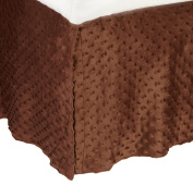 American Baby Company Heavenly Soft Minky Dot Tailored Crib Skirt, Chocolate