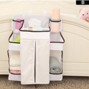 GZQ Baby Nursery Organiser Multifunction Cot Cot Bed Crib Hanging Storage Bag for Stuffed Toys Nappy Nappies Milk Powder Moist Toilet Tissue Towels Clothes
