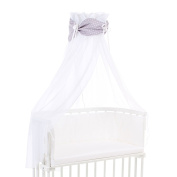 Babybay Organic Cotton Canopy, White/Light Grey Stars