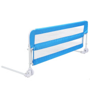 PRASACCO Portable Bed Rail Bed Guard for Baby and Toddler, 102cm, Blue