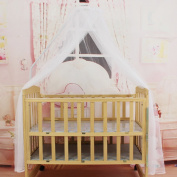 Maistore Summer Baby Bedding Crib Mosquito Net Portable Size Round Toddler Baby Bed Mosquito Mesh Hung Dome Curtain Net