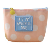 Cdet Coin Purse Simple Pink Pattern MultifunctionalTravel Pouch Hand Cosmetic Bag