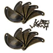 Yeah67886 Retro Bronze Door Cabinet Knob Drawer Shell Cup Door Pull Handle w/Screws
