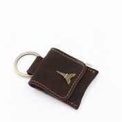 Fancy Deluxe High-end Quality Fancy Eiffel Tower Full Genuine Leather USB Flash Drive Holder with Key Ring in Brown