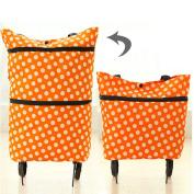 Honeysuck Large Folding Shopping Trolley Dual Wheel Tote Bag