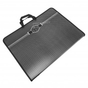 Icon A3 Black Handled Carry Case Art Portolio Artists Paper Storage Folder Large