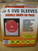 50 x CD DVD DOUBLE SIDED SLEEVES FITS 2 DISCS STRONG PROTECT DISC CLEAR HOLDS NOTES
