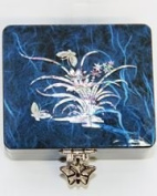 Traditional Chinese Rectangular Blue Jewellery Box
