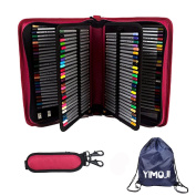 YIMOJI 160 Slots PU Leather Pencil Case Large Capacity Pencil Bag For Arts Students