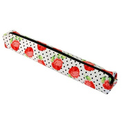 Knitting Pin Case with Black Polka & Floral Design | Dimensions 42x10x5.5cm