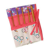 Bicycles' Style Crochet Hook Roll, Can Fit Six Needles & Ties to Fasten