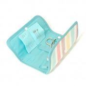 Compact Sew Roll with Turquoise Colour Scheme & Felt Storage Compartments