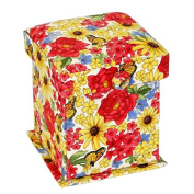 In Bloom Floral Pattern Sewing Case with Removable Lid & Flat Base Stand