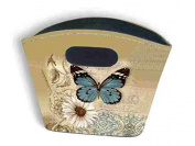 Small Rigid Tidy Bag - Blue Butterfly Design